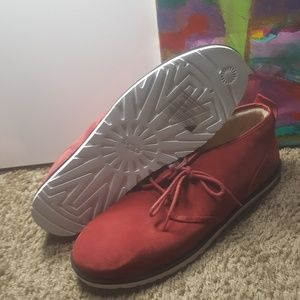 UGG Shoes - Mens uggs Red chukka boot size 17